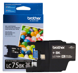 CARTUCHO TINTA LC75BK PRETO 600 PAG BROTHER