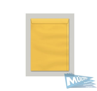 ENVELOPE SACO KRAFT OURO 80G 185X248MM 10UN SCRITY