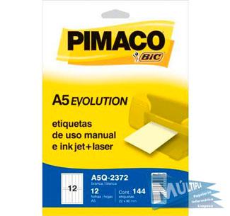ETIQUETA A5Q-2372 22,0X90,0MM 144UN PIMACO