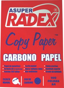 CARBONO MANUAL A4 AZUL 100FL RADEX