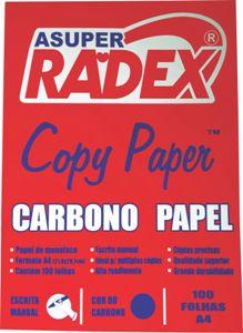 PAPEL CARBONO A4 AZUL 100FL RADEX