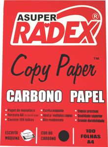 CARBONO MANUAL A4 PRETO 100FL RADEX