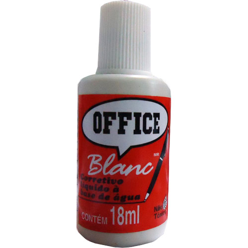 CORRETIVO LIQUIDO 18ML BASE AGUA OFFICE BLAN RADEX
