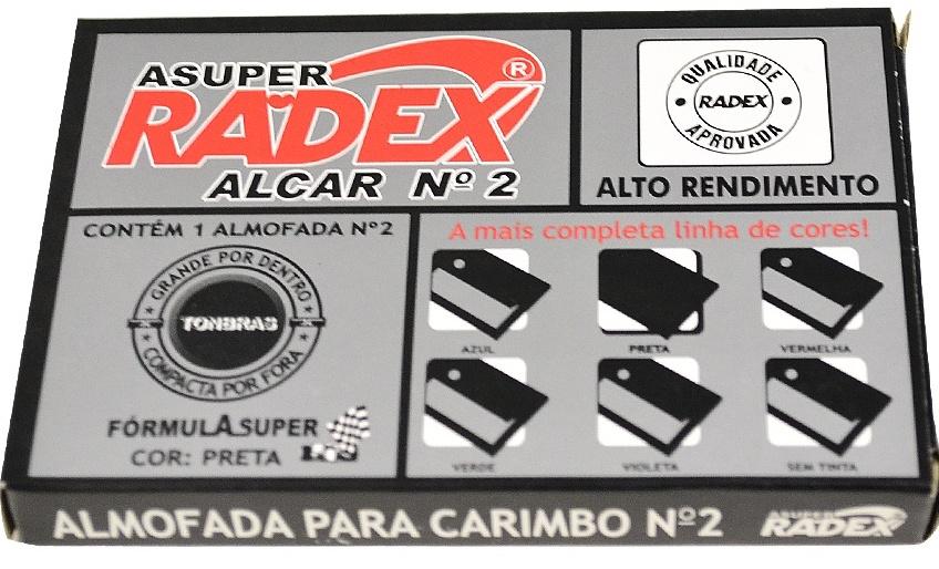 ALMOFADA Nº 2 PRETA RADEX