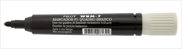 MARCADOR QUADRO BRANCO PRETO WBM-7 PILOT