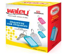 CHAVEIRO PLASTICO 50UN 10180003 WALEU