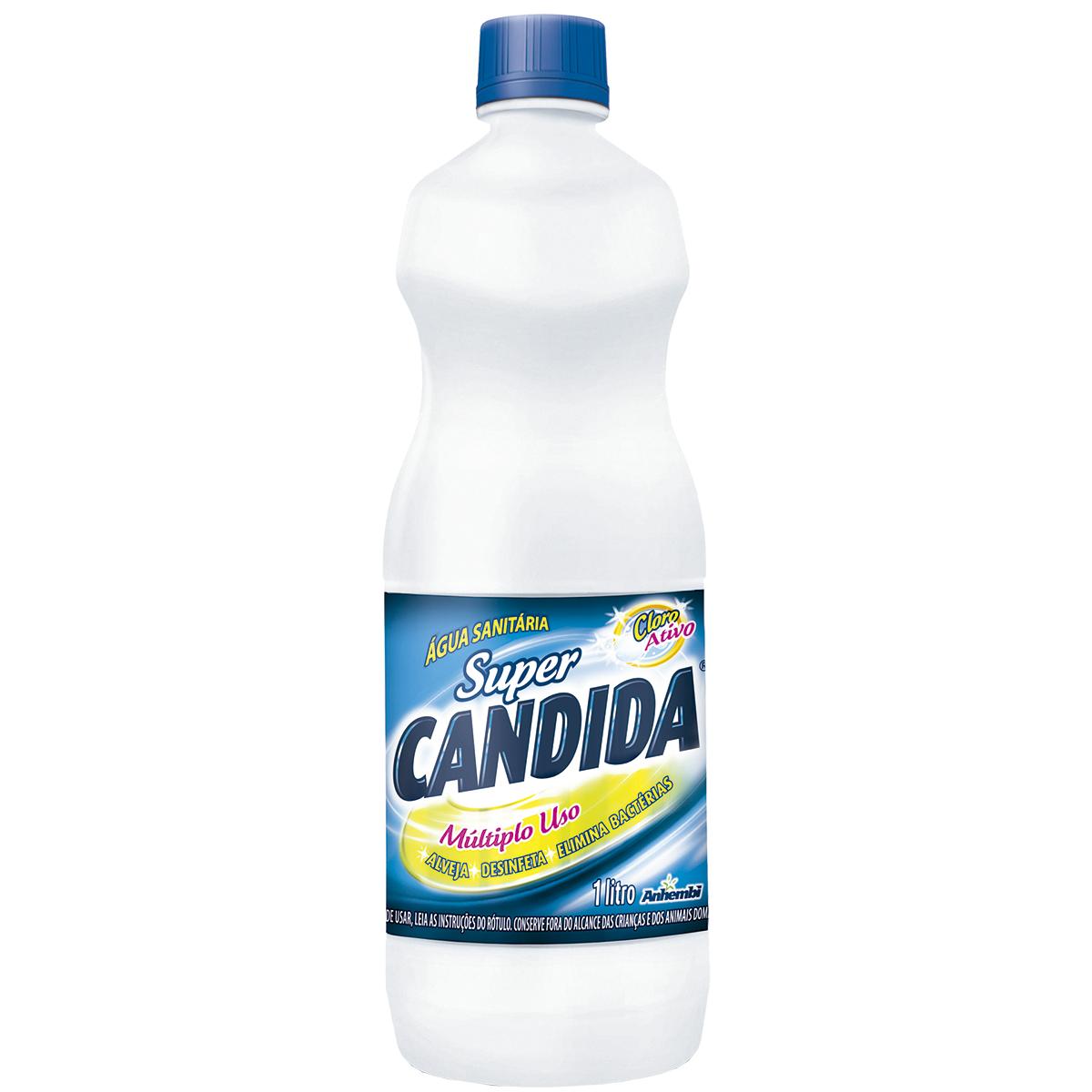 AGUA SANITARIA CLORO ATIVO 2,0 A 2,5% 1L SUPER CANDIDA