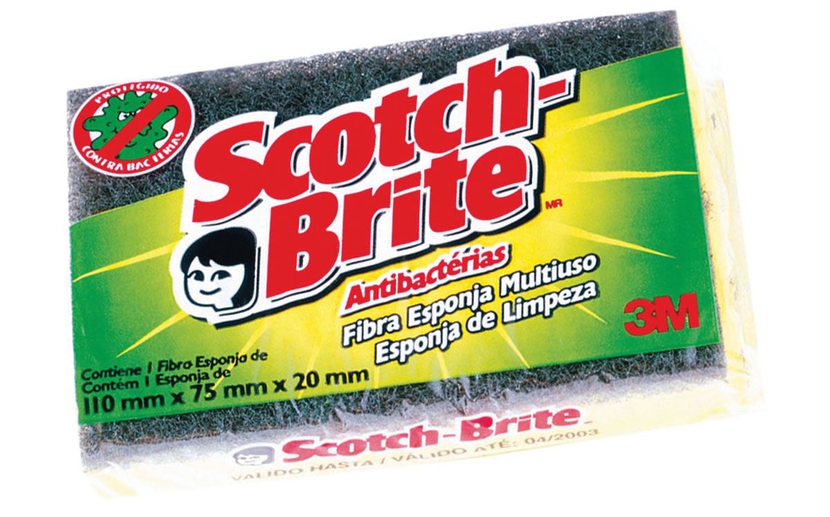 ESPONJA DUPLA FACE 110X70MM SCOTCH-BRITE 3M