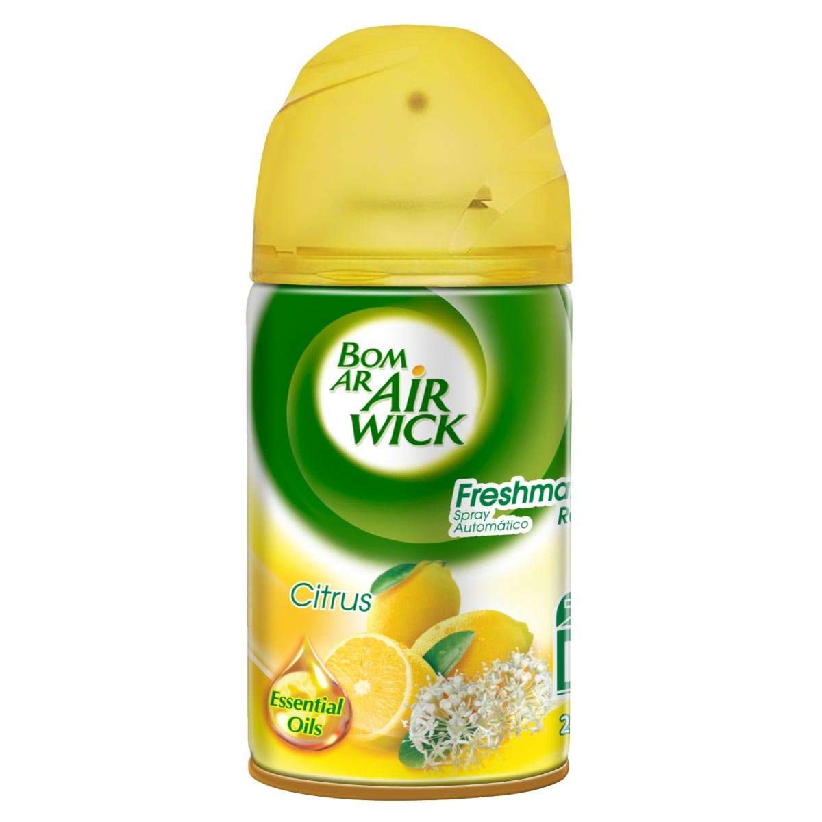 REFIL PURIFICADOR AR CITRUS 250ML P/ FRESH MATIC BOM AR