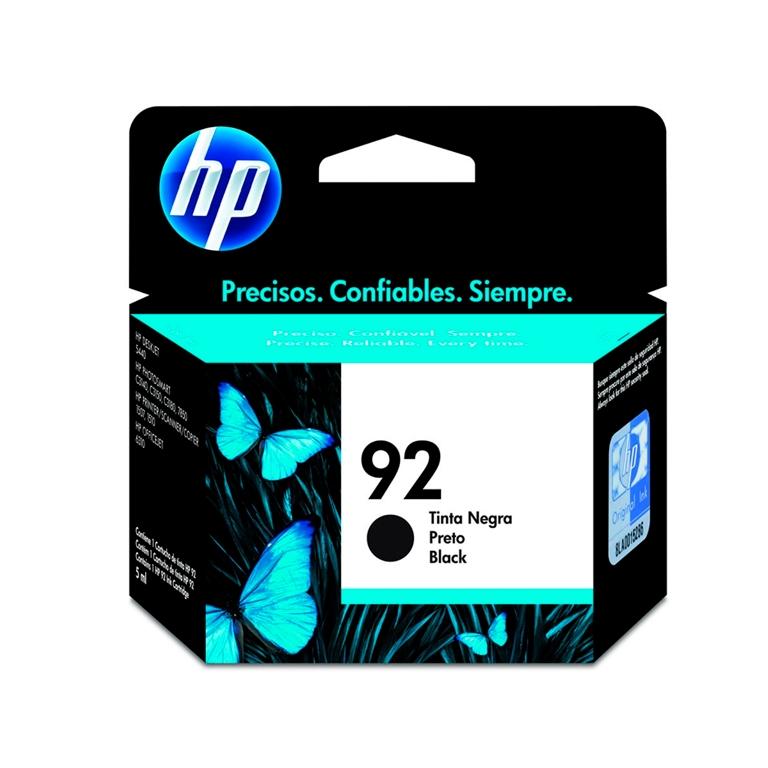 CARTUCHO TINTA C9362WB PRETO 5ML (92) HP