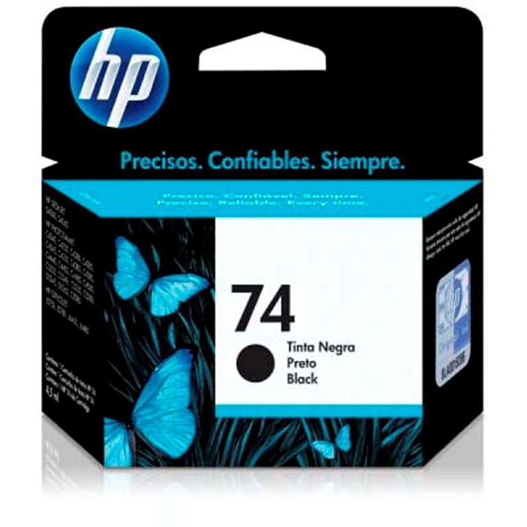 CARTUCHO TINTA CB335WB PRETO 4,5ML (74) HP