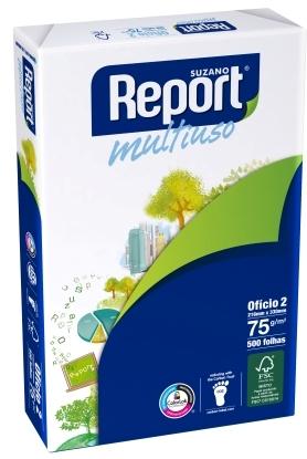 PAPEL SULFITE OFICIO 2 BRANCO 216X330MM 75G 500FL REPORT