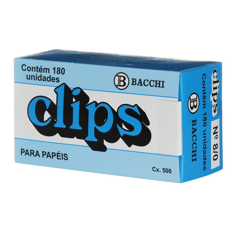 CLIPS 8/0 GALVANIZADO 500G BACCHI