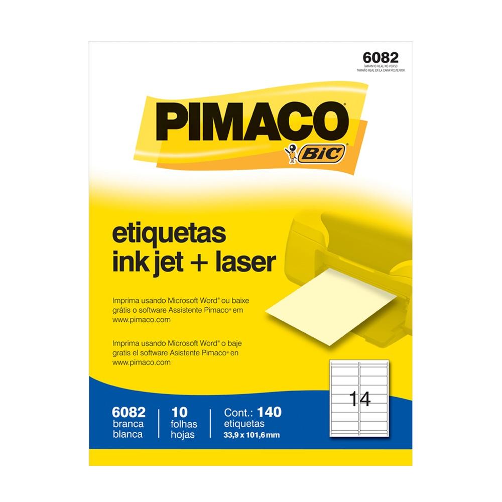 ETIQUETA 6082 33,9X101,6MM 14 P/ FL 10FL PIMACO