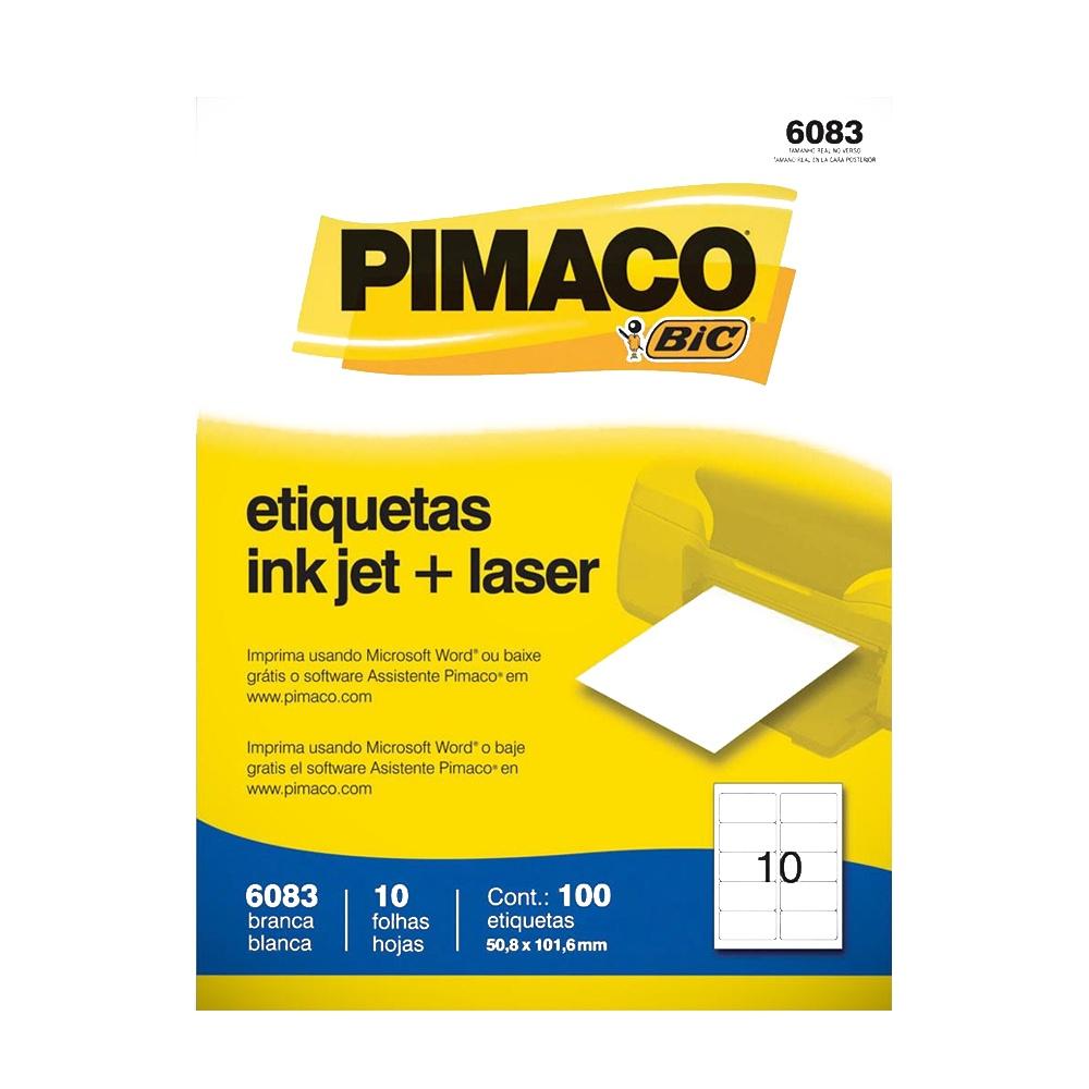 ETIQUETA 6083 50,8X101,6MM 10 P/ FL 10FL PIMACO