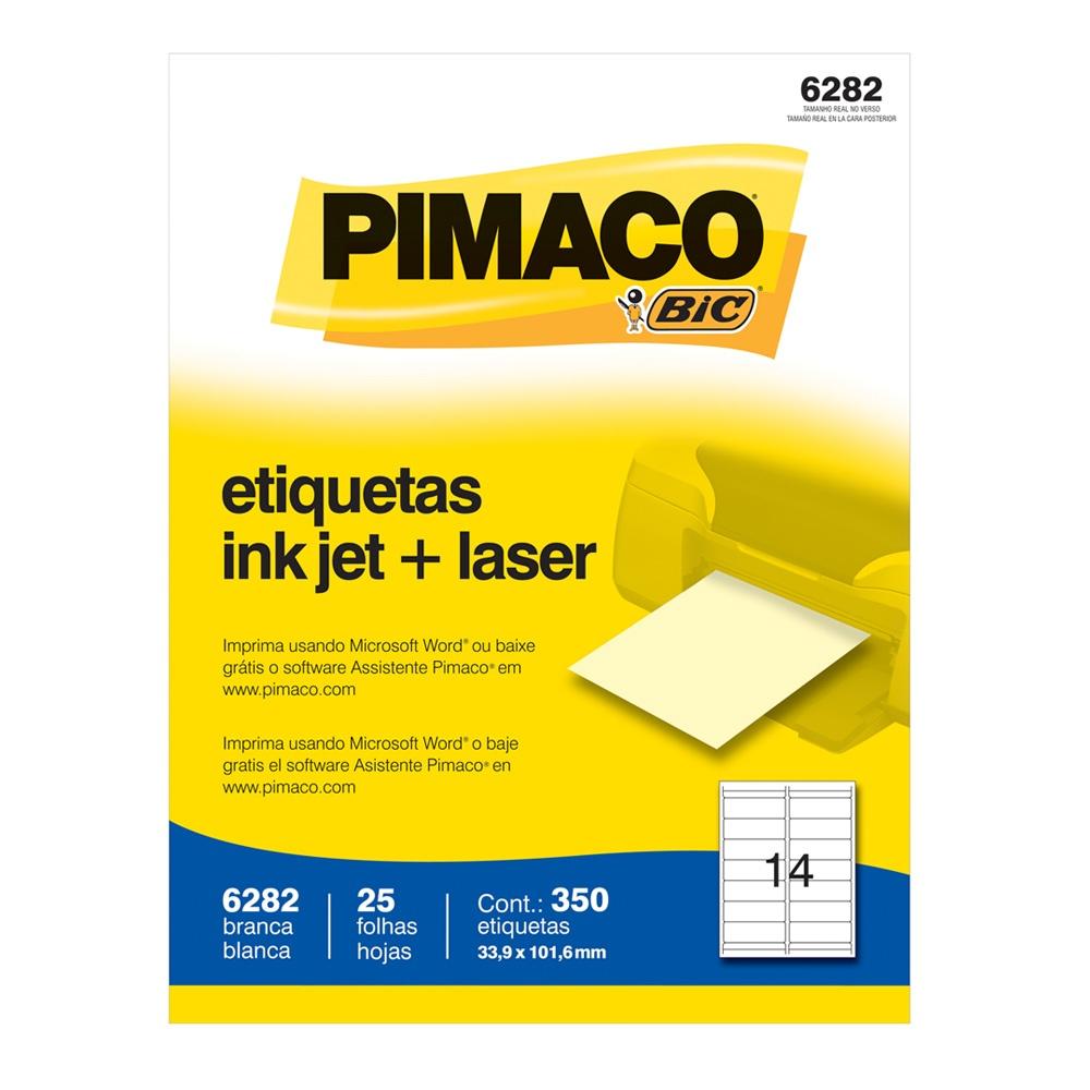 ETIQUETA 6282 33,9X101,6MM 14 P/FL 25FL PIMACO