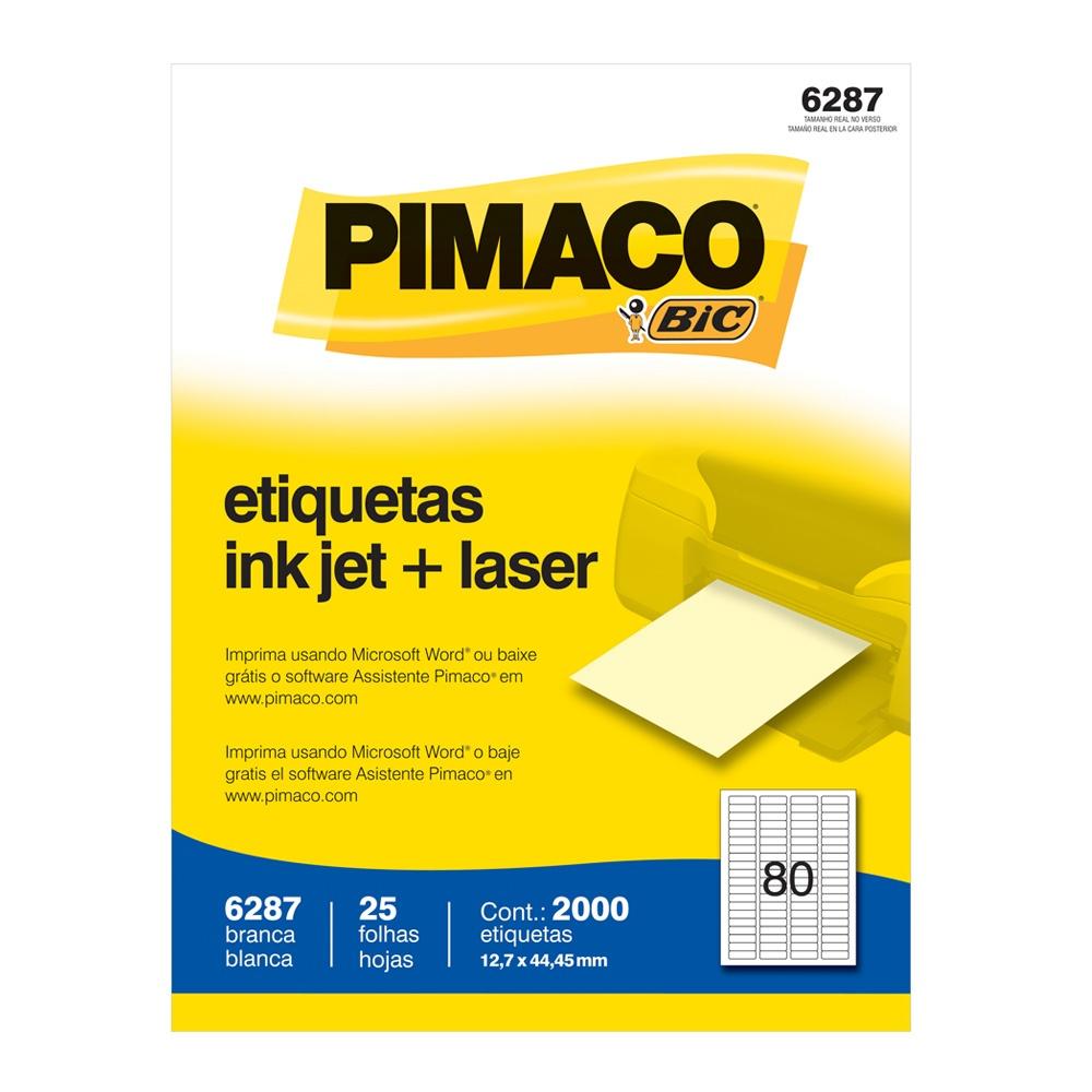 ETIQUETA 6287 12,7X44,45MM 80 P/FL 25FL PIMACO