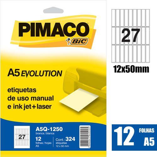 ETIQUETA A5Q-1250 12,0X50,0MM 324UN PIMACO