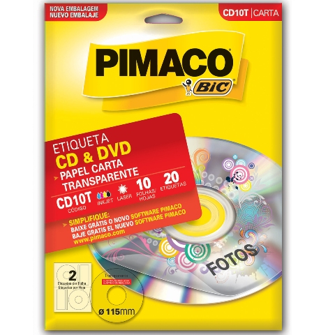 ETIQUETA CD1000B P/ CD 2 P/ FL 1000FL PIMACO