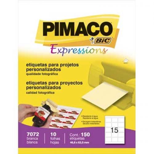 ETIQUETA 7072 46,6X63,5MM 15 P/FL 10FL PIMACO