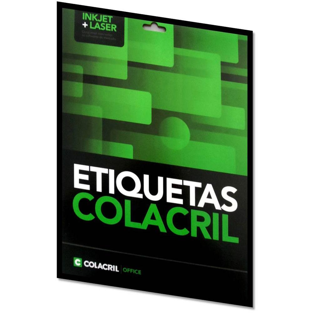 ETIQUETA INKJET E LASER CARTA 6184 84,67X101,6MM BRANCA CX 600UN COLACRIL