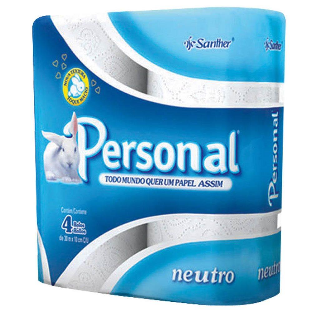 PAPEL HIGIENICO BRANCO FL SIMPLES 4 ROLOS PERSONAL