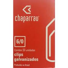 CLIPS Nº 6/0 GALVANIZADO 50UN CHAPARRAU