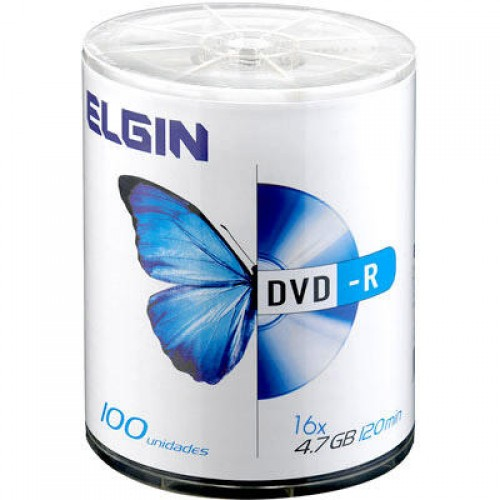 DVD-R 4.7GB 16X BULK 100UN ELGIN