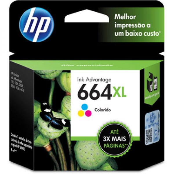 CARTUCHO TINTA F6V30AB COLOR 664XL HP