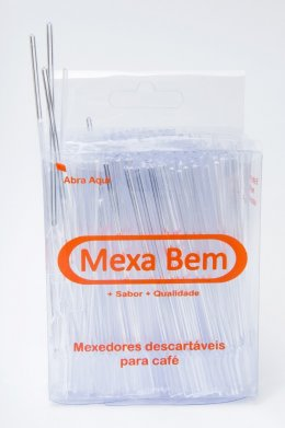 PALHETA PLASTICA PARA DRINK CRISTAL 11CM 500UN MEXA BEM