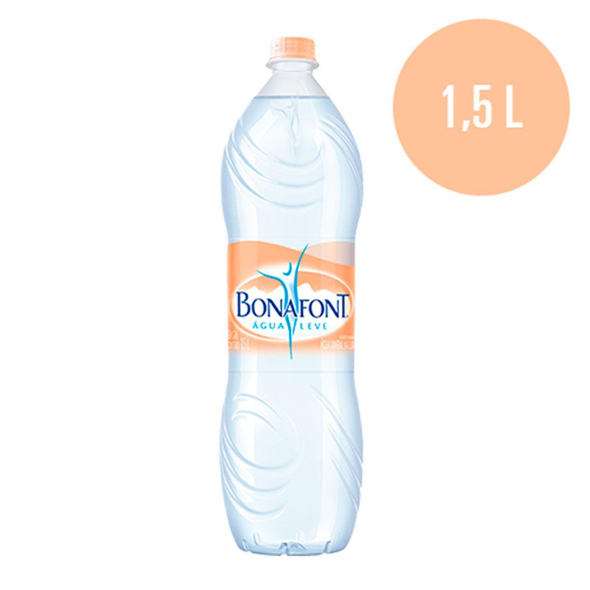 AGUA MINERAL SEM GAS BONAFONT 1,5LT DANONE