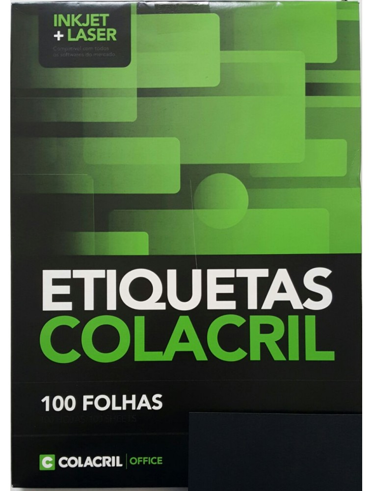 ETIQUETA INKJET E LASER CARTA 6182 33,9X101,6MM BRANCA CX 1400UN COLACRIL