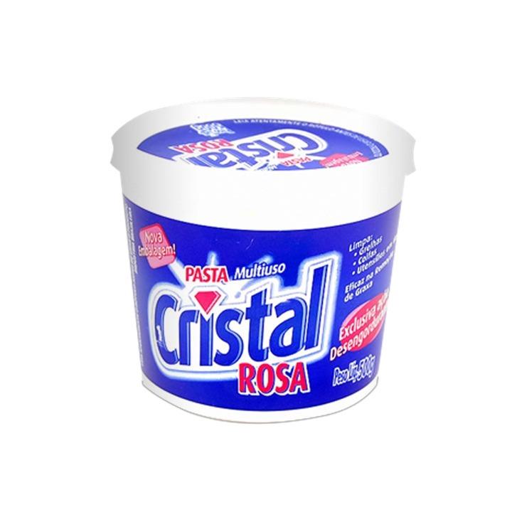 PASTA MULTIUSO PARA LIMPEZA 500G CRISTAL ROSA