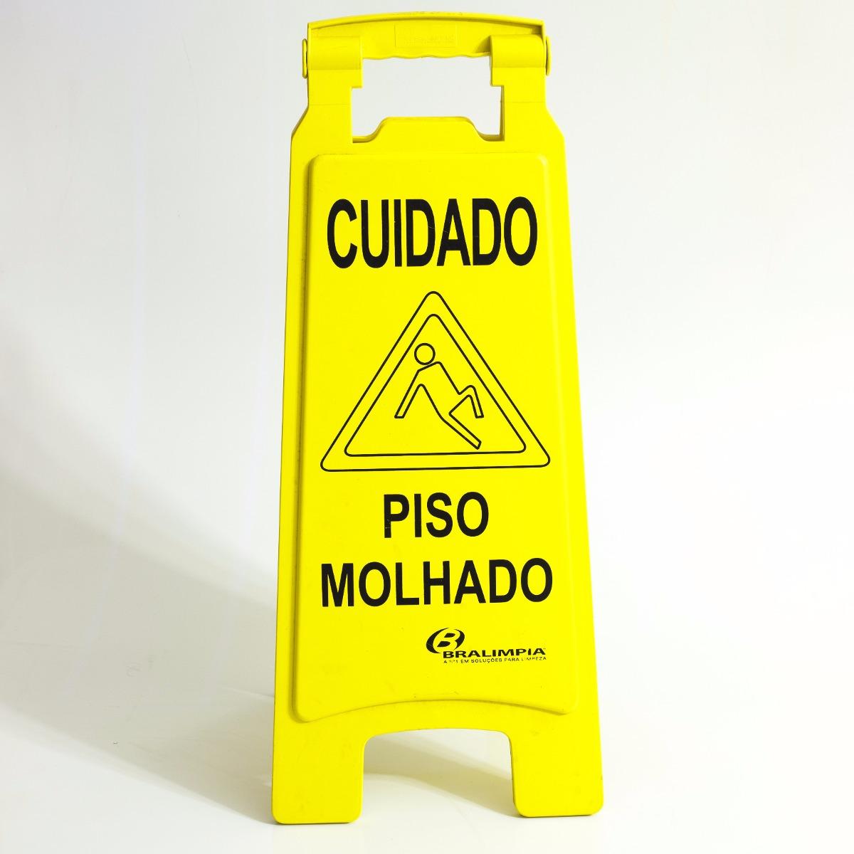 PLACA CUIDADO PISO MOLHADO MVPL2000 BRALIMPIA