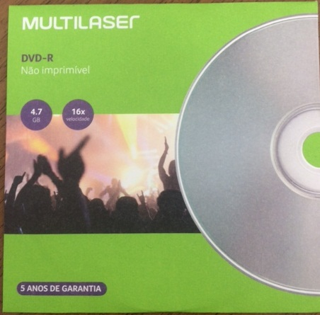 DVD-R 4.7GB 16X ENVELOPE MULTILASER