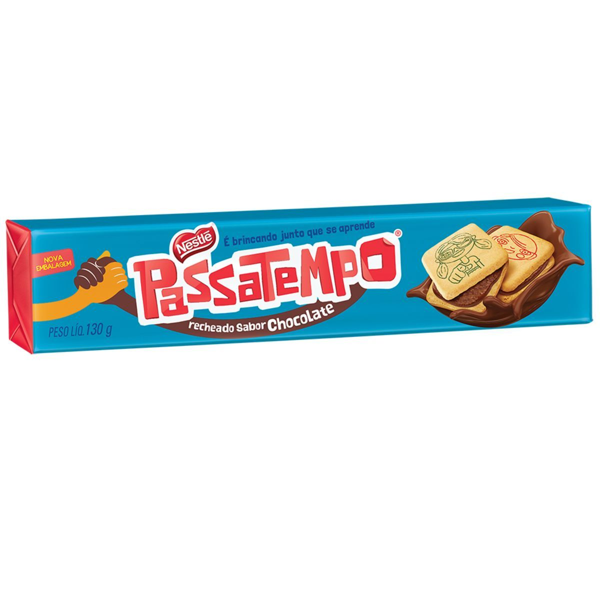 BISCOITO RECHEADO CHOCOLATE 130G PASSATEMPO NESTLE