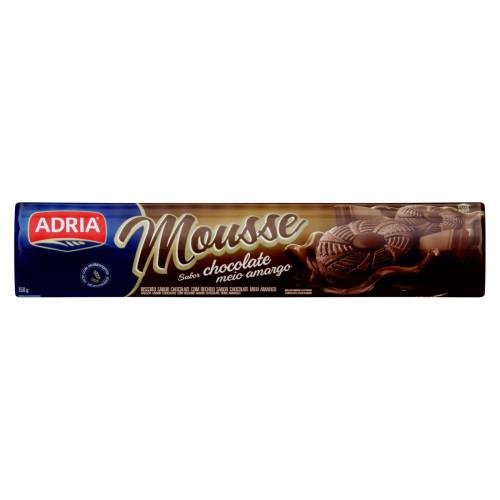 BISCOITO RECHEADO CHOCOLATE MEIO AMARGO 150G MOUSSE ADRIA