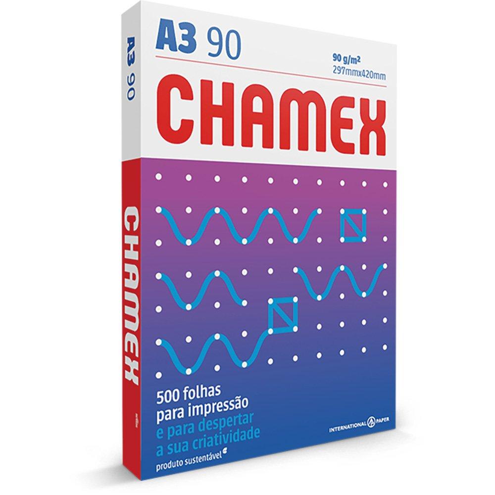 PAPEL A3 (297X420MM) BRANCO 90G 500FL CHAMEX