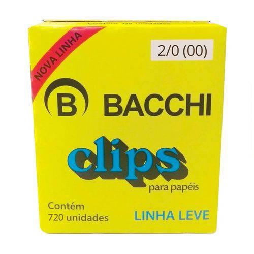CLIPS 2/0 GALVANIZADO LEVE 720UN BACCHI
