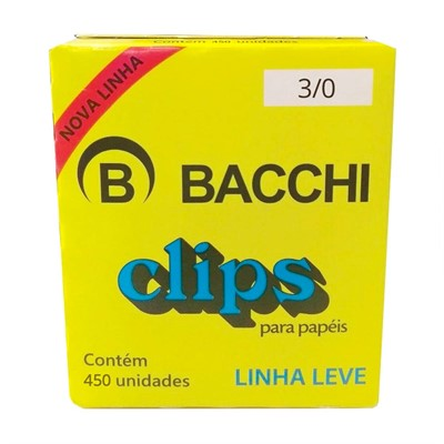 CLIPS 3/0 GALVANIZADO LEVE 450UN BACCHI