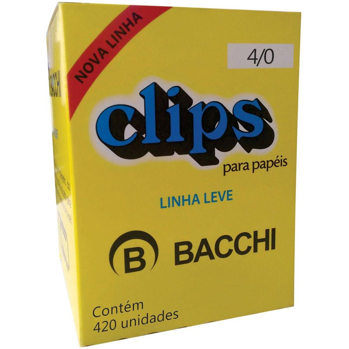 CLIPS 4/0 GALVANIZADO LEVE 420UN BACCHI