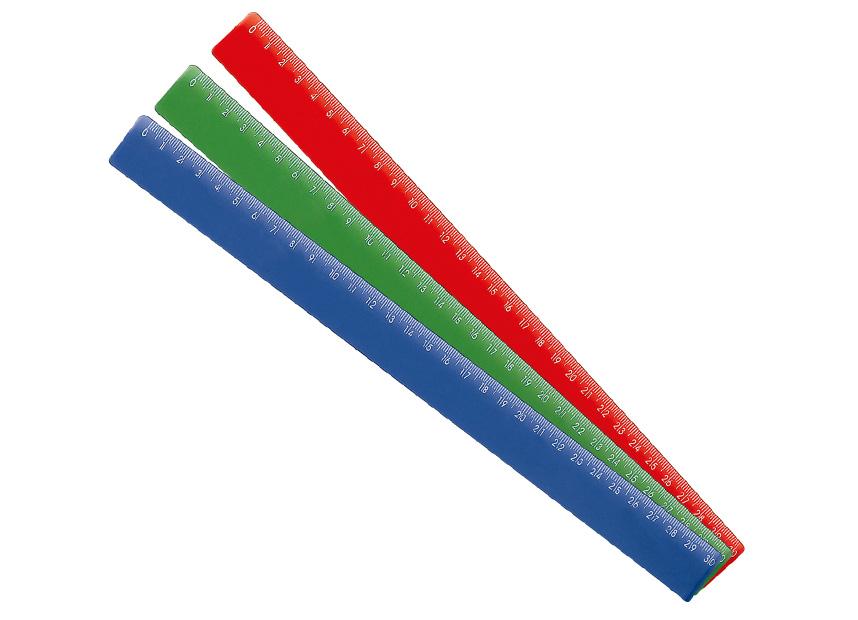 REGUA 30CM PLASTICA CORES WALEU