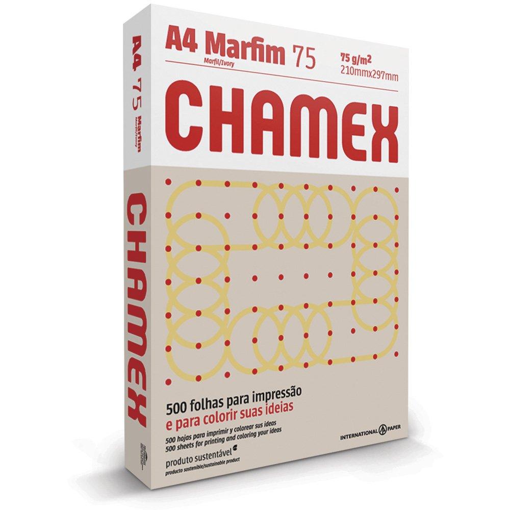 PAPEL A4 (210X297MM) MARFIM 75G 500FL CHAMEX