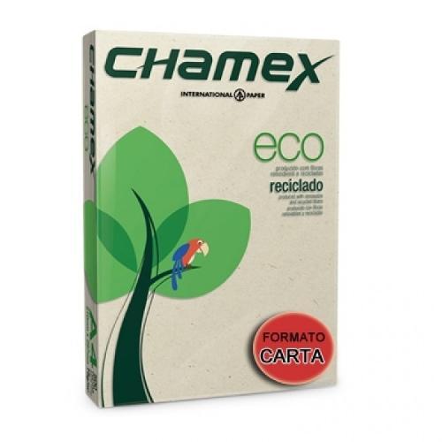 PAPEL SULFITE CARTA RECICLADO 216X279MM 75G 500FL CHAMEX