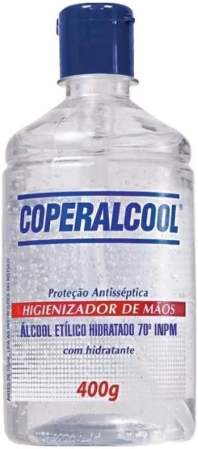 ALCOOL GEL 70º HIGIENIZADOR MAOS ANTISSEPTICO FLIP 400GR COOPERALCOOL