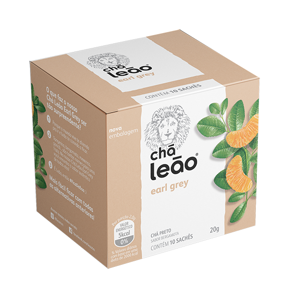 CHA PRETO EARL GREY SACHE 1,6G 10UN LEAO