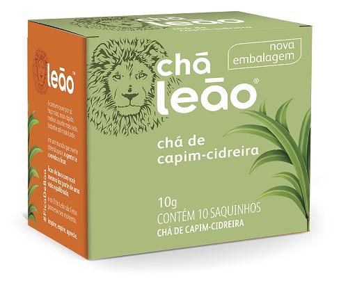 CHA DE CAPIM CIDREIRA SACHE 1G 10UN LEAO