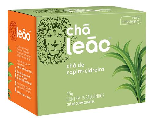 CHA CAPIM CIDREIRA SACHE 1G 15 ENVELOPES LEAO