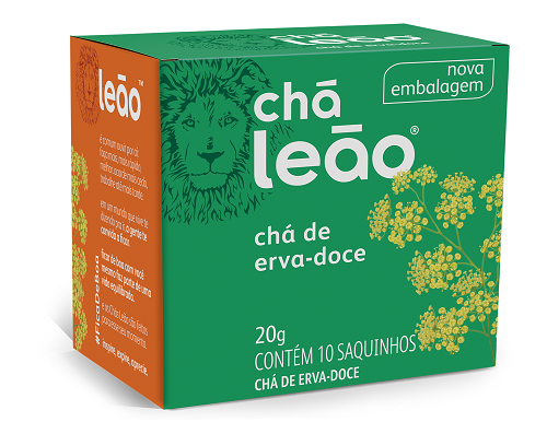 CHA ERVA DOCE SACHE 2G 10UN LEAO