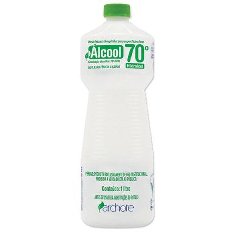 ALCOOL LIQUIDO 70° LIMPEZA HOSPITALAR 1LT ARCHOTE